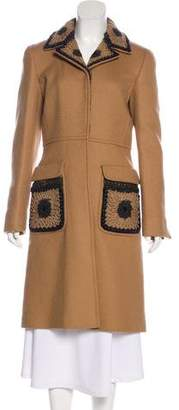 Prada Long Wool Coat w/ Tags