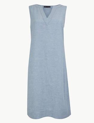Marks and Spencer Linen Rich Shift Dress