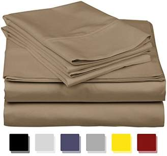 Thread Spread True Luxury 100% Egyptian Cotton - Genuine 1000 Thread Count 4 Piece Sheet Set- Color Taupe