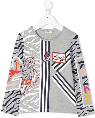 Kenzo printed long-sleeved T-shirt