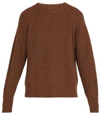 Lemaire - Crew Neck Ribbed Wool Blend Sweater - Mens - Brown