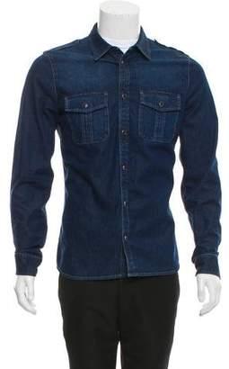 Gucci Chambray Utility Shirt Jacket