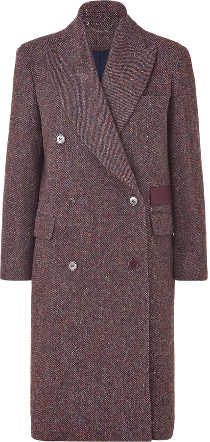 Paul Smith Aubergine Multicolor Harris Tweed Coat