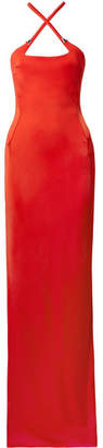 Thierry Mugler Embellished Stretch-jersey Gown - Red