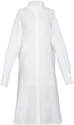 Boontheshop Collection Longline Collared Cotton Blouse
