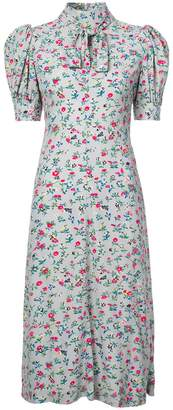 Jill Stuart floral print bow tie dress