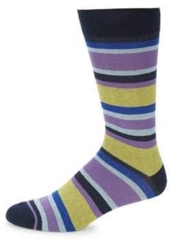 Saks Fifth Avenue Jaspe Pop Stripes Socks