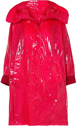 Moncler Astrophy Pvc Raincoat - Red