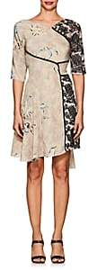 Mayle Maison MAISON WOMEN'S LACE & SILK CREPE BELTED DRESS