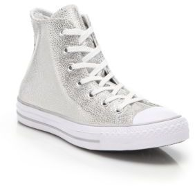 Converse Stingray Metallic High-Top Sneakers $80 thestylecure.com