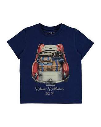 MAYORAL Roadster Cotton Jersey Tee, Blue, Size 3-7 $28 thestylecure.com
