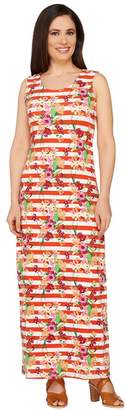 Liz Claiborne New York Regular Floral Stripe Maxi Dress