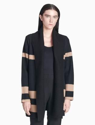 Calvin Klein colorblock shawl collar cardigan