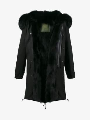 Mr & Mrs Italy Black Fur Lined parka