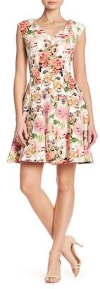 Taylor Floral Fit and Flare Dress
