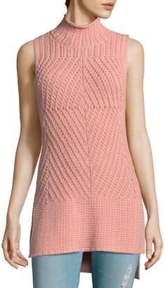 Alice+olivia Woman Cotton-blend Turtleneck Sweater Pink Size L Alice & Olivia nSOc2k7gh