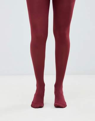 Asos DESIGN Maternity 80 denier tights in burgundy