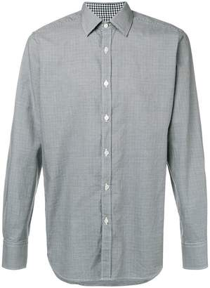 Canali micro houndstooth print shirt