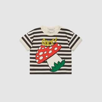 Gucci Baby T-shirt with mushroom print