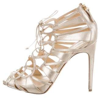 Alexandre Birman Metallic Cage Sandals
