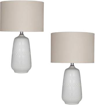 Amalfi by Rangoni Poppy Taupe Table Lamp (Set of 2)
