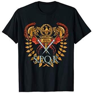 SPQR Ancient Rome Roman Empire Graphic Novelty T-Shirt Gift