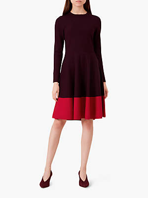 Hobbs Macie Dress, Wine Pink