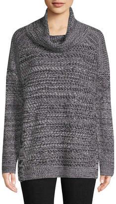 ST. JOHN'S BAY Long Sleeve Cowl Neck Pullover Sweater