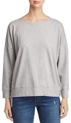 Eileen Fisher Speckled Knit Step Hem Sweatshirt