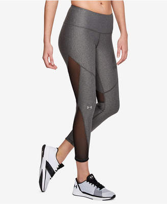 Under Armour HeatGear Mesh-Inset Compression Workout Leggings