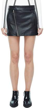 Dion Lee Leather Biker Mini Skirt