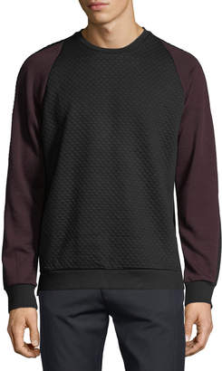 Karl Lagerfeld Paris Men's Textured Knit Raglan Shirt
