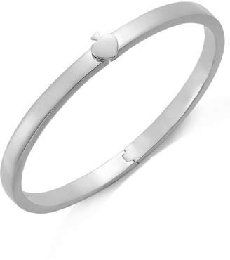 Kate Spade Bracelet, Silver-Tone Spade Thin Hinged Bangle Bracelet