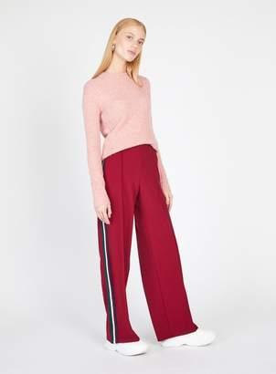Miss Selfridge Burgundy Side Stripe Trousers