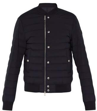 Moncler Blain Quilted Down Bomber Jacket - Mens - Navy