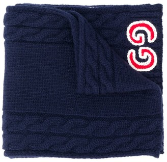 Gucci Kids GG cable knit scarf