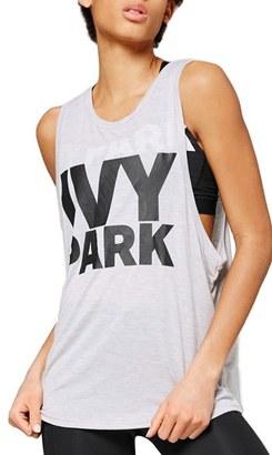 Women's Ivy Park Logo Jersey Tank $25 thestylecure.com