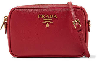 Prada Textured-leather Shoulder Bag - one size