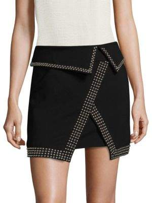 L'Agence Amelie Studded Mini Skirt