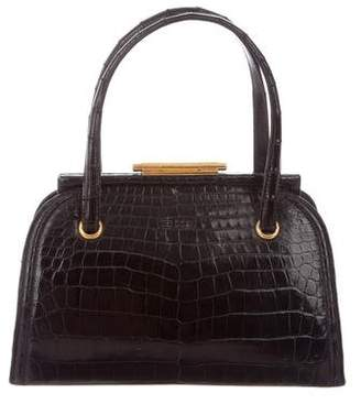 Hermes Vintage Crocodile Frame Handle Bag