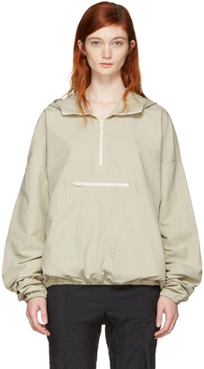YEEZY Green Pullover Jacket $425 thestylecure.com