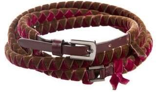 Malo Velvet Wrap-Around Belt