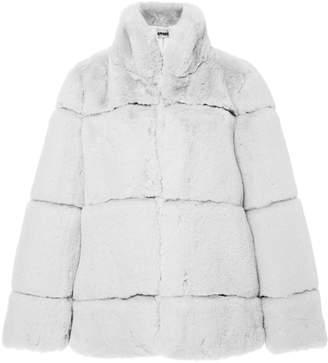 ff0379b289 Apparis Sarah Collared Paneled Faux-Fur Jacket