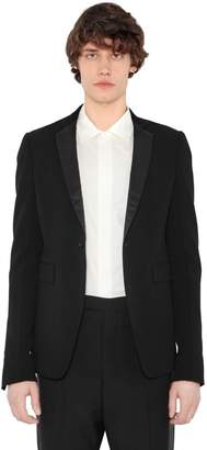 Rick Owens Virgin Wool Crepe Jacket W/ Satin Lapels