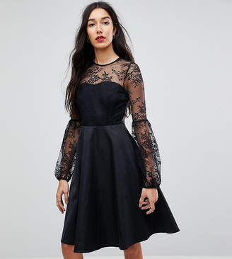 Y.A.S Tall Lace Top Balloon Sleeve Dress
