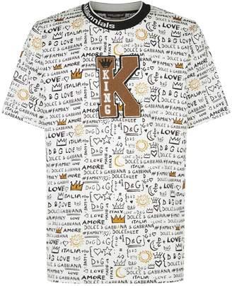 Dolce & Gabbana King Print T-Shirt