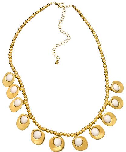 Blu Bijoux Golden Pedal Necklace