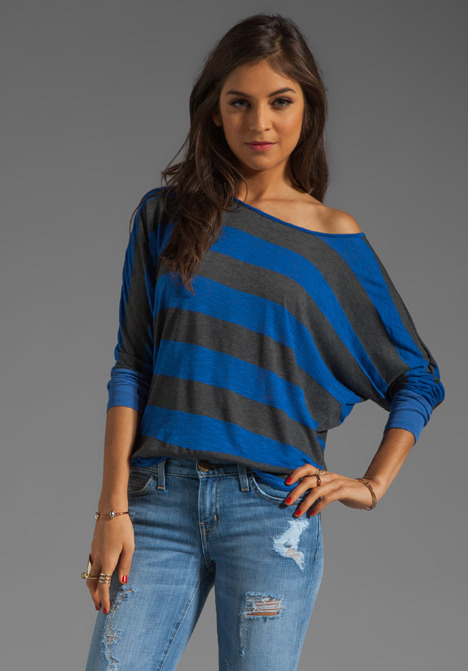 Market Charcoal Stripe Frida Top