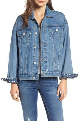 Blank NYC BLANKNYC Studded Cuff Denim Jacket