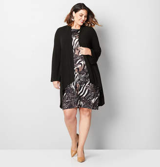Avenue Mixed Print Hacci Jacket Dress